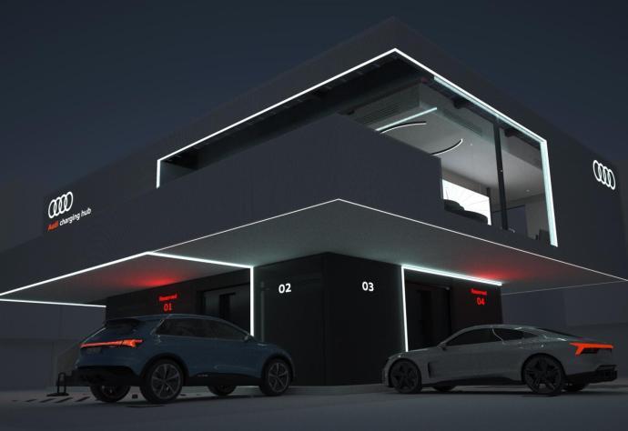 Audi Charging Hub Dunkel