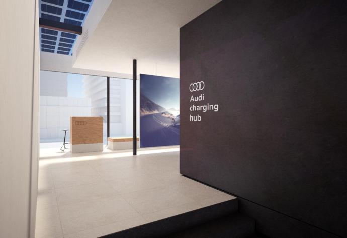 Audi Charging Hub Lounge