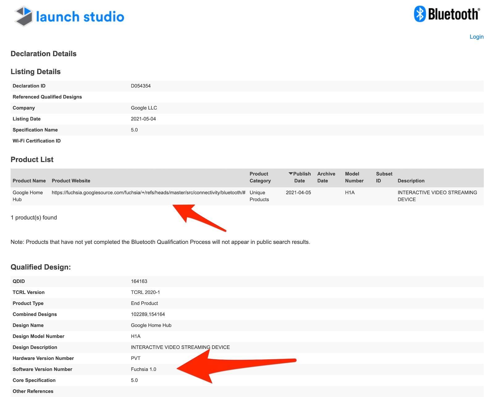Google Fuchsia Bluetooth Sig