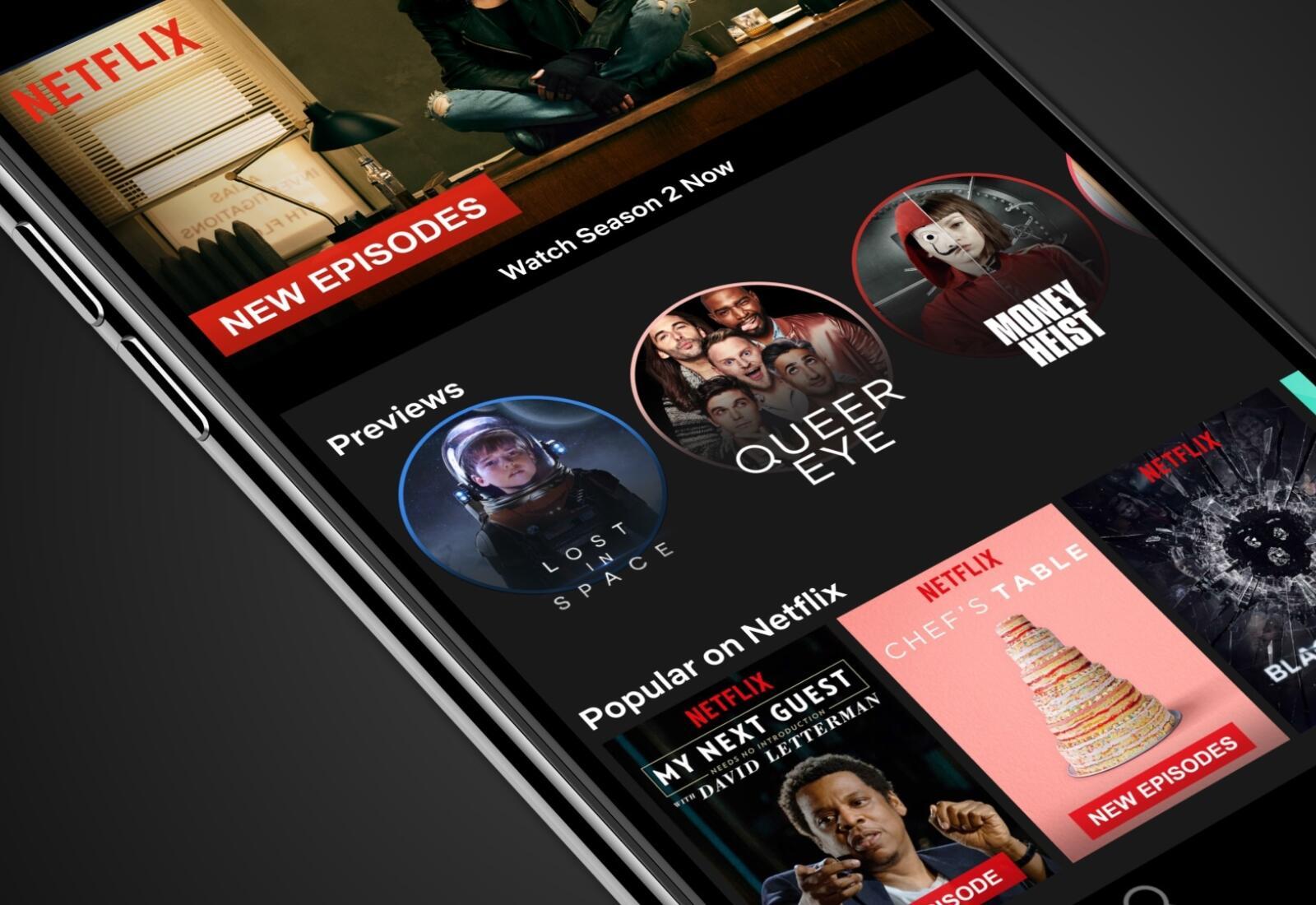 Netflix App Preview Header