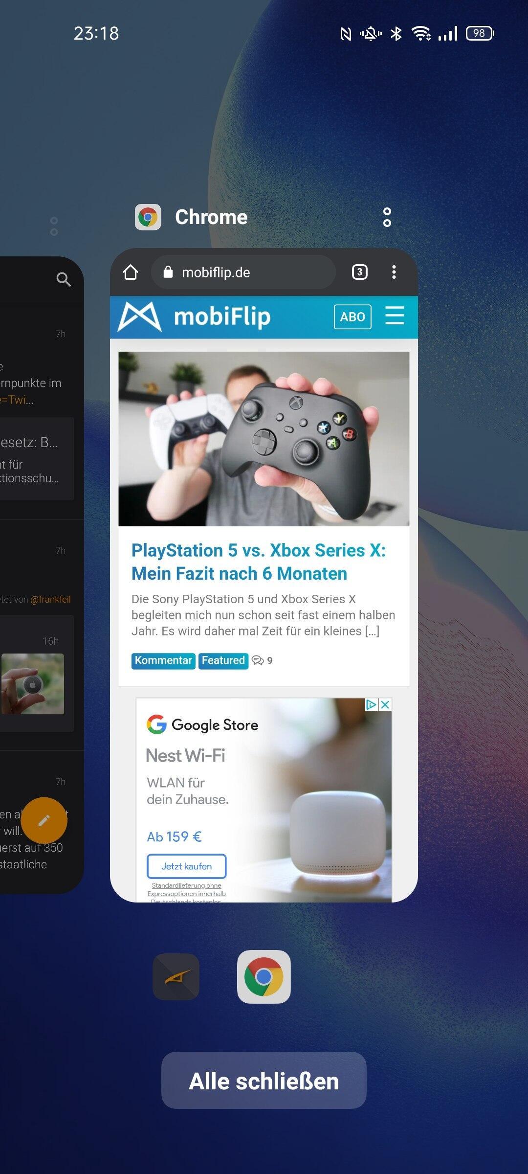 Oppo Find X3 Neo Multitasking