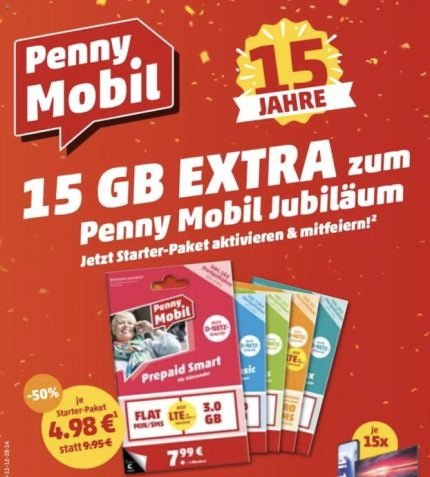 Penny Mobil 15 Gb Extra