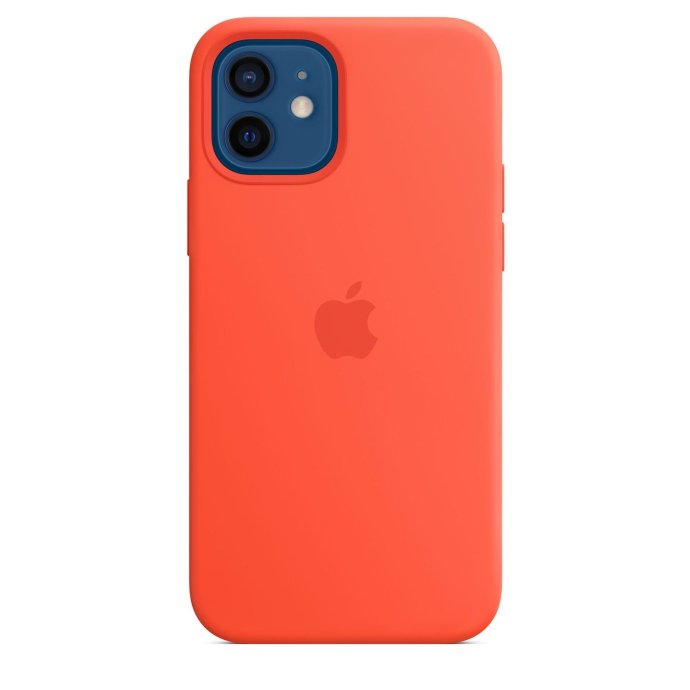 Apple Iphone 12 Silikon Case Leuchtorange