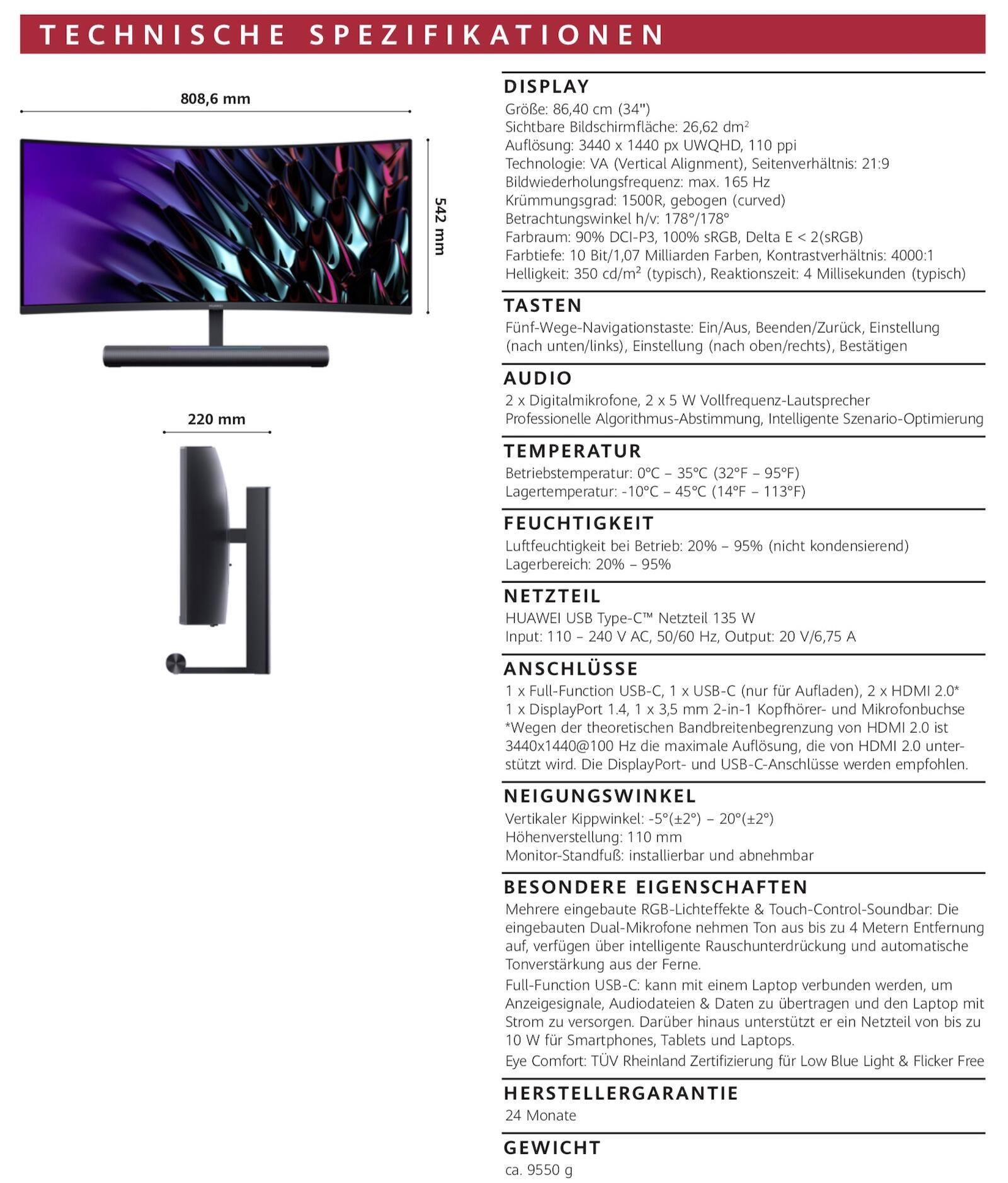 Huawei Mateview Gt Specs