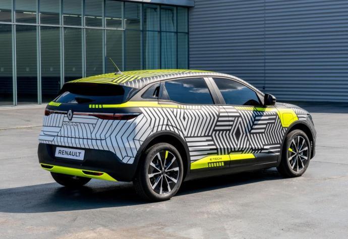 Renault Megane E Tech Electric Prototyp Heck