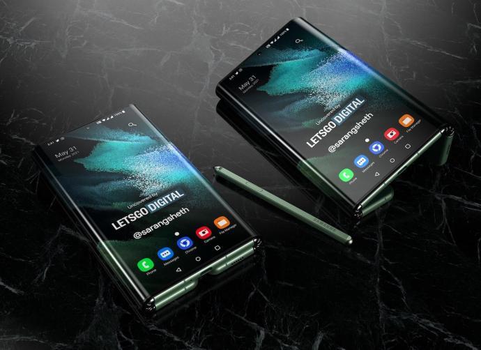 Samsung Galaxy Z Fold Tab Render