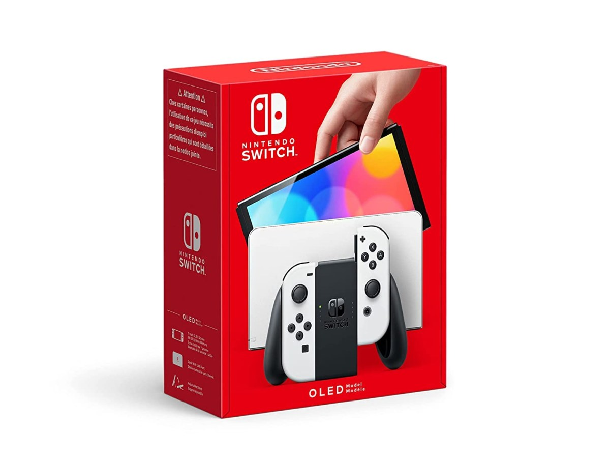 Nintendo Switch Oled Weiss Verpackung