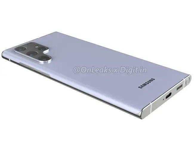 Samsung Galaxy S22 Ultra Render Back
