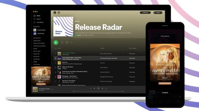 Spotify Release Radar Werbung