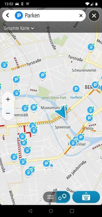 Tomtom Go Navigation Parkinformationen In Echtzeit In Der Kartenuebersich...