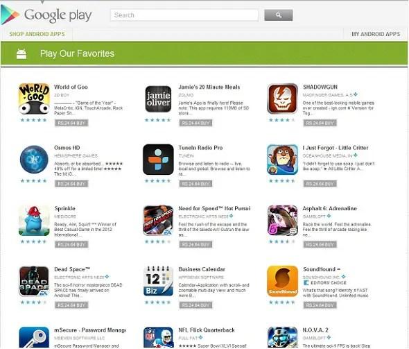 Google-Play-Sale-List