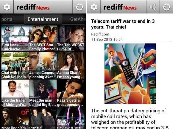 Rediff-News-App