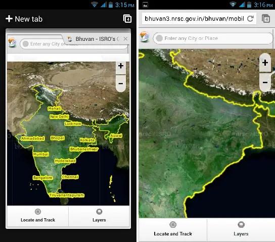 Bhuvan-ISRO-app