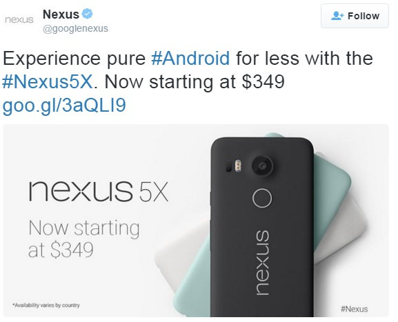 nexus-5x-price-slash-tweet