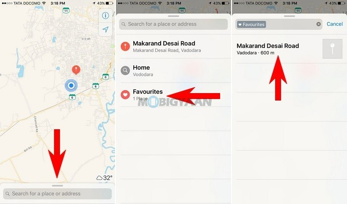 How to save locations on Apple Maps