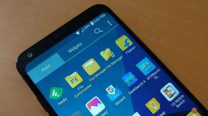 Hide apps in LG Q6