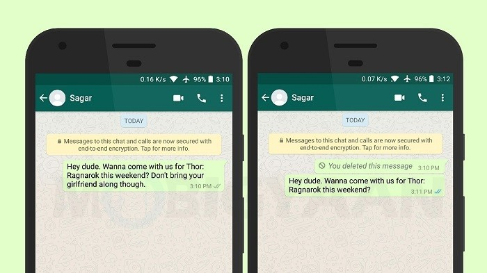 How to unsend WhatsApp message