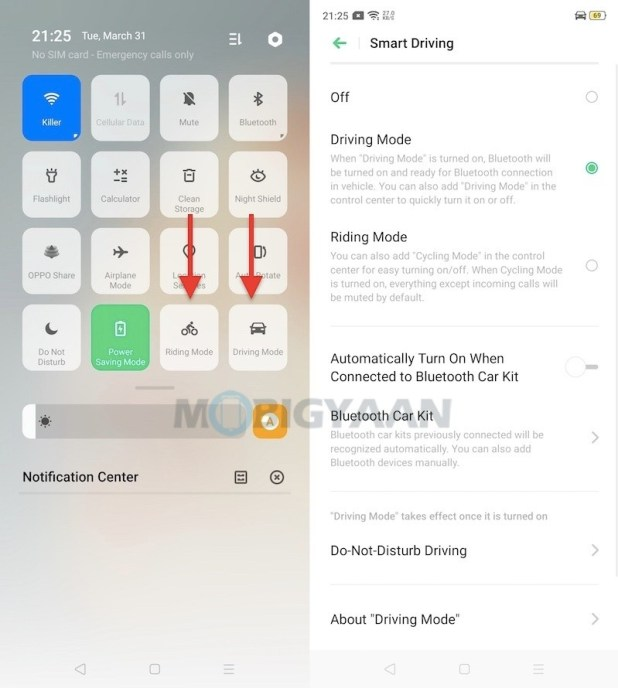 Driving-Riding-Mode-OPPO-F15-Tips-And-Tricks-ColorOS-7