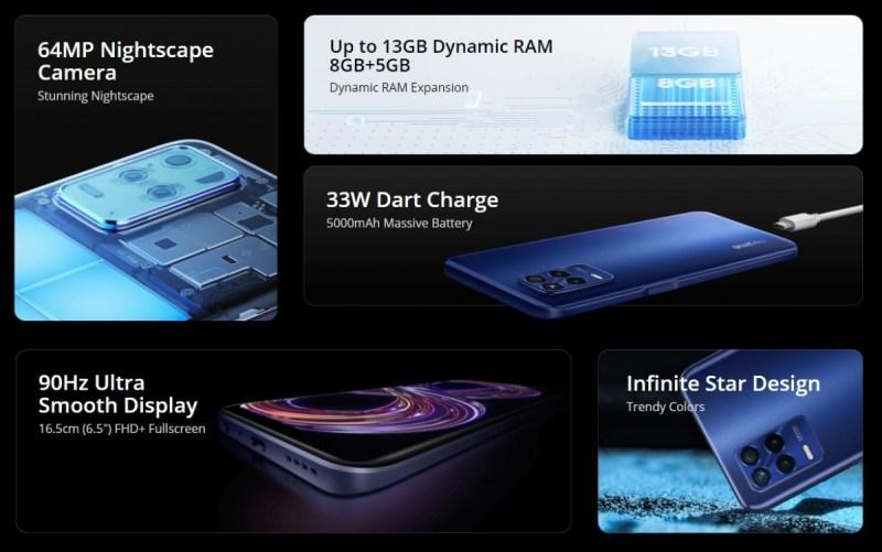 الإعلان الرسمي عن هاتفي Realme 8s 5G وRealme 8i