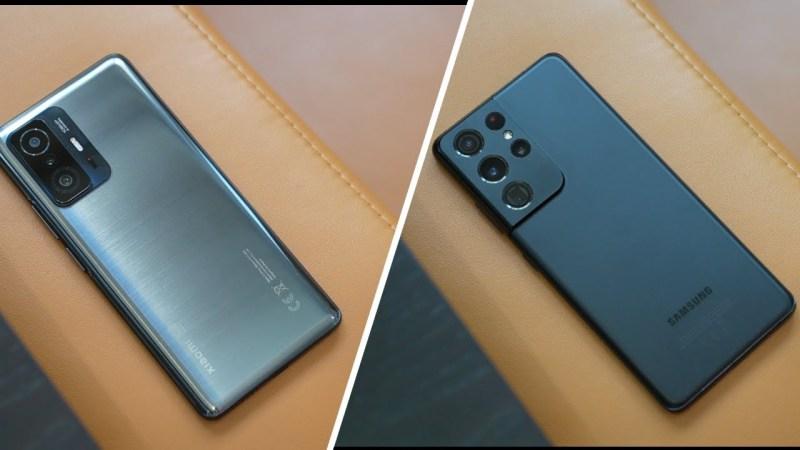 تحدي الكبار:هاتف Samsung Galaxy S21 Ultra ضد الهاتف Xiaomi 11T Pro