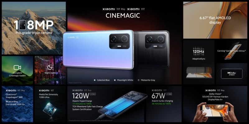 شاومي تضرب من جديد ... تعرف على هواتف Xiaomi Mi 11T وMi 11T Pro