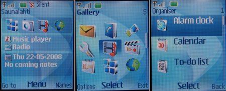 Nokia 3110 Evolve menu