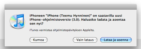 iTunes iPhone 3.0