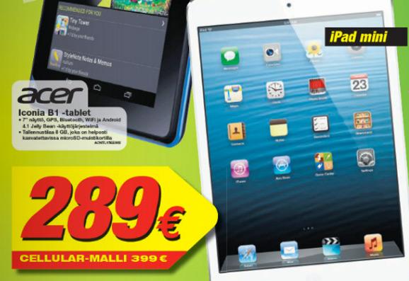 iPad mini, Gigantti-tarjous
