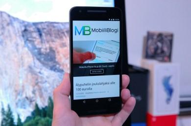 Nexus 5X, kädessä