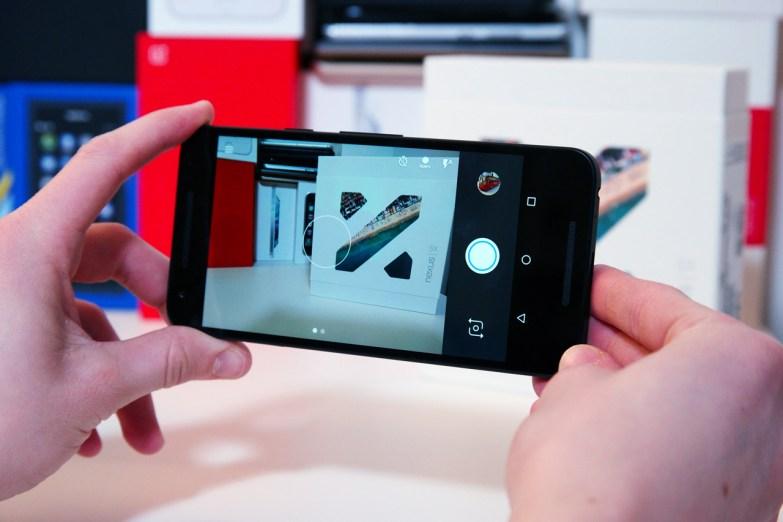 Nexus 5X, kamera käyttöliittymä