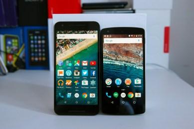 Nexus 5X ja Nexus 5