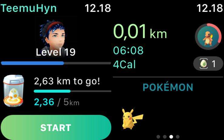 Pokemon GO, Apple Watch app