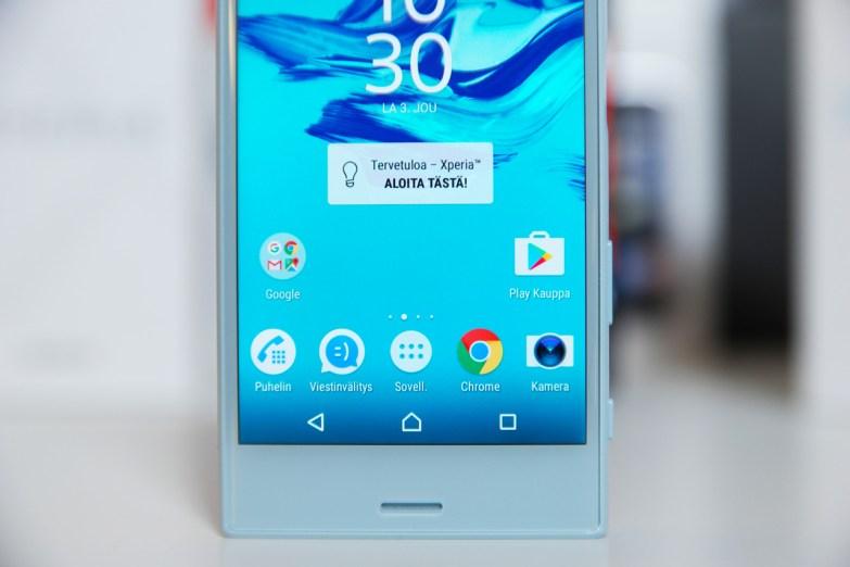 Sony Xperia X Compact, näyttö.