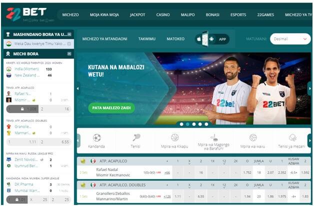 22Bet online bookie erbjuder över 50 sporter att satsa på i Krona