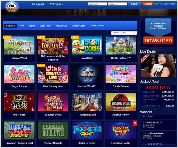 All slots casino spel