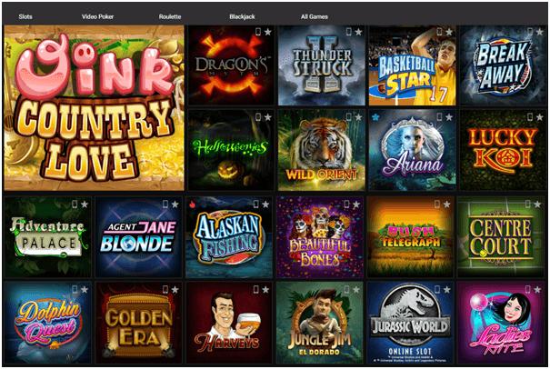 Jackpot City Kasino spel