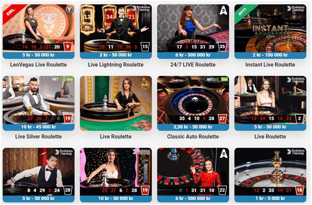 På alla kasinon online roulette bord får du en kunglig upplevelse med professionella återförsäljare och croupiers som behärskar spinnhjulet och guider dig när du spelar online roulette.
