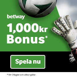 Betway 1000kr free bet