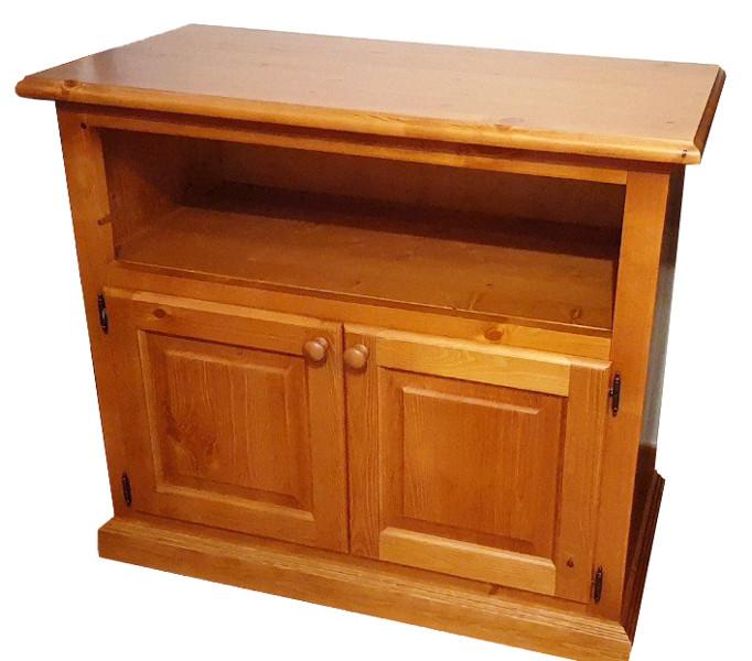 meuble tv avec deux portes diana en bois rustique country cuisine