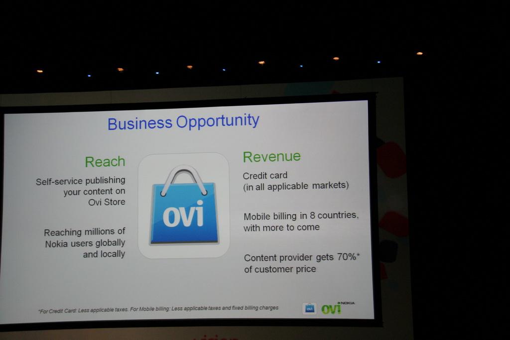 Ovi Stores Reach & Revenue potential