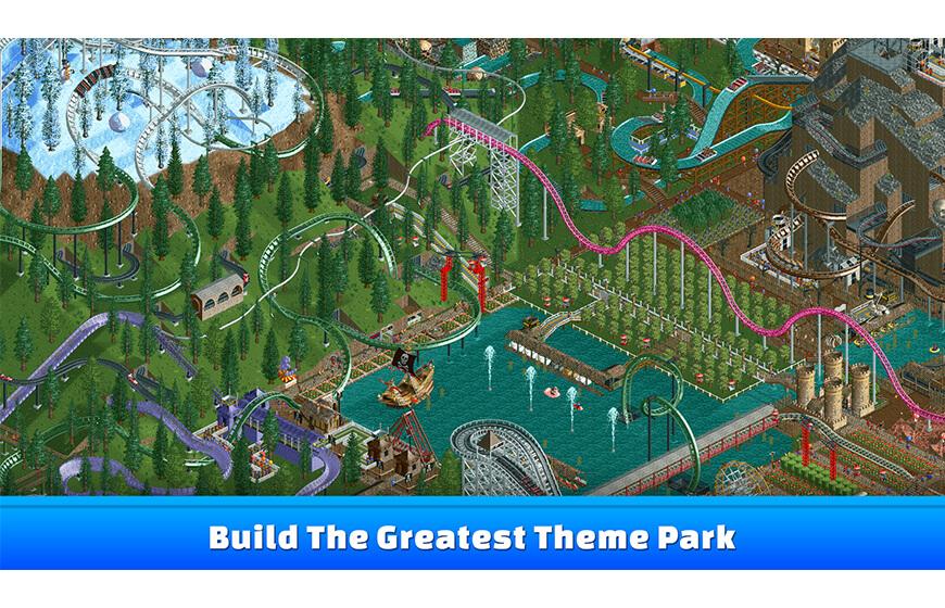 Android için en iyi eğlence park Rollercoaster Tycoon oyunu indir