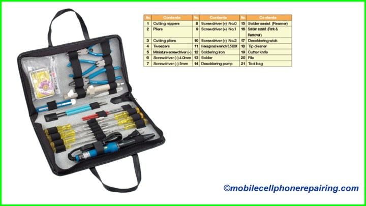 Mobile Phone Repairing Tools & Equipment | List of Mobile Repair Tools