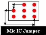 Cavalier IC de microphone de téléphone portable
