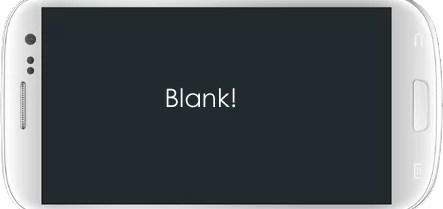 Mobile Phone Blank Screen