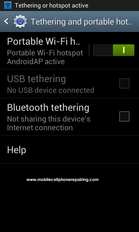 Android Portable Wifi Hotspot - Switch ON Portable Wi-Fi Hotspot