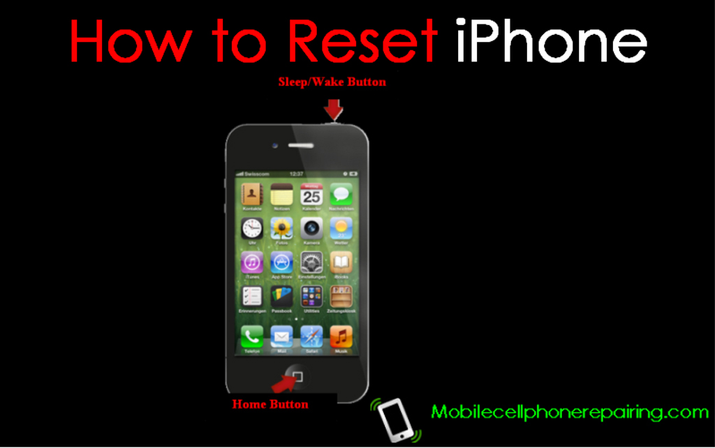 how to restart iphone without lock button factory reset iphone 4s 4493