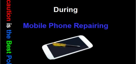 Mobile Phone Repairing Safety