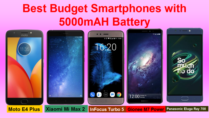 Best Smartphones with 5000 mah Battery