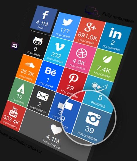 SocialFans – WP Responsive Social Counter Plugin