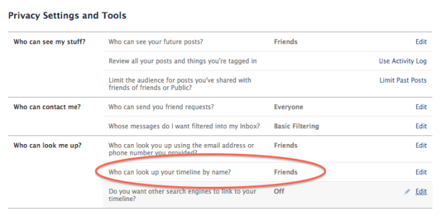 You can no longer hide from Facebook search result